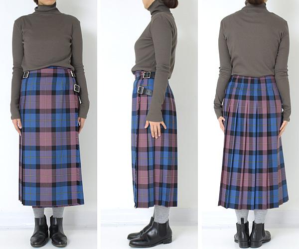 【20AW予約】O'NEIL OF DUBLIN オニールオブダブリン ウールタータンチェックキルトスカート 12477 レディース【送料無料】