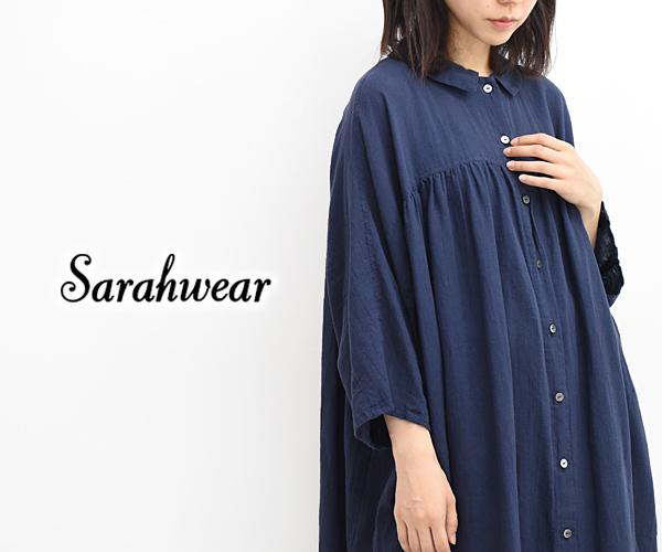 【40%OFF】【セール】Sarah Wear サラウェア ガーゼギャザードドレス ワンピース C71090 レディース【送料無料】【返品・交換不可】