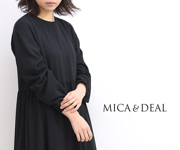 【40%OFF】【セール】MICA&DEAL マイカアンドディール ウエストギャザーワンピース 0120404247 レディース【送料無料】【返品・交換不可】
