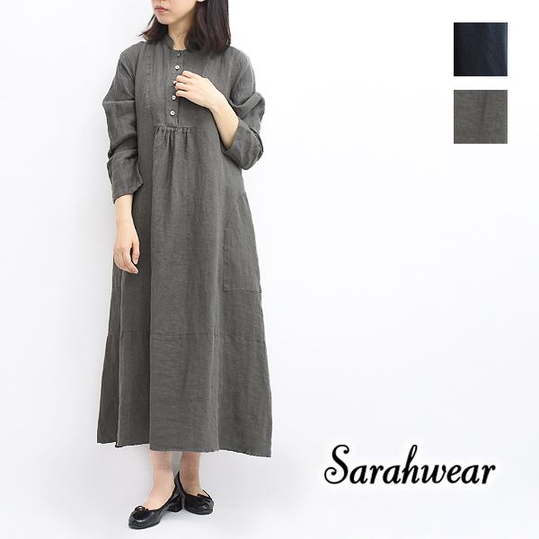 """Sarah Wear サラウェア """"Tomoyo"""" リネンビエラワンピース C71086 レディース【送料無料】"""