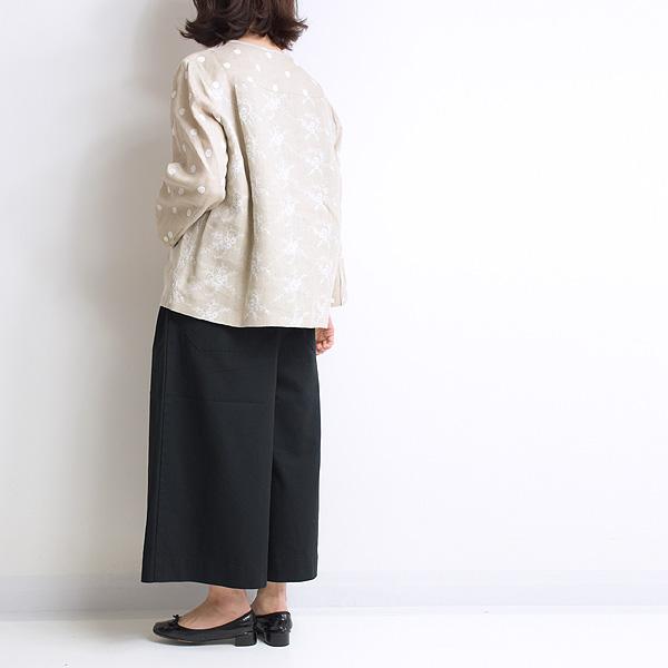Sarah Wear サラウェア コットンツイルキュロットパンツ C30402 レディース【送料無料】