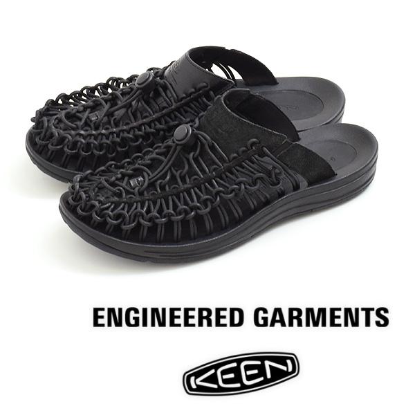 """【21SS】ENGINEERED GARMENTS × KEEN """"Uneek Premium Leather Slide"""" エンジニアードガーメンツ  キーン ユニーク プレミアムレザー スライド サンダル【送料無料】"""