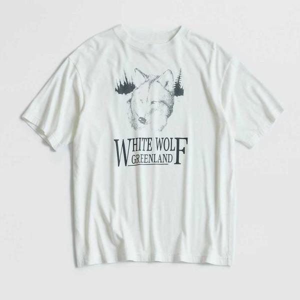 "【21SS】THE SHINZONE シンゾーン ""WHITE WOLF TEE"" ホワイトウルフTシャツ 21MMSCU09【クリックポスト可】【会員登録で送料無料】"