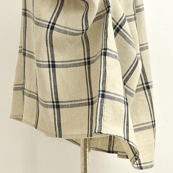 natalia ナターリア リネンチェックスキッパーワイドシャツ N2706 レディース