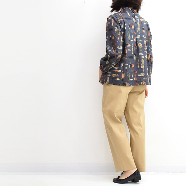 Sarah Wear サラウェア リバティーボトルネックブラウス C52681 レディース【送料無料】【クリックポスト可】