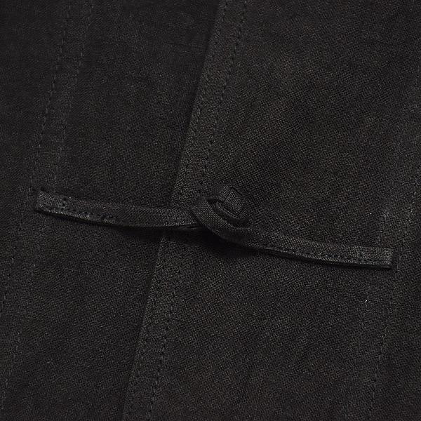 orSlow オアスロウ ブラックリネン カンフージャケット メンズ レディース 03-6013