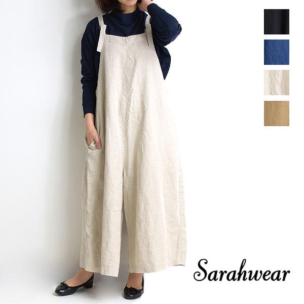 Sarah Wear サラウェア リネンツイルサロペットパンツ C16029 レディース【送料無料】