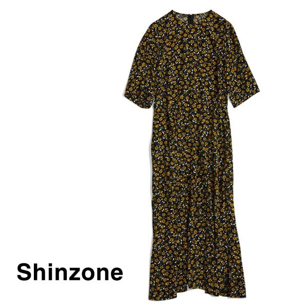 【20AW予約】THE Shinzone シンゾーン YELLOW FLOWER DRESS イエローフラワードレス ワンピース 20AMSOP04 レディース【送料無料】
