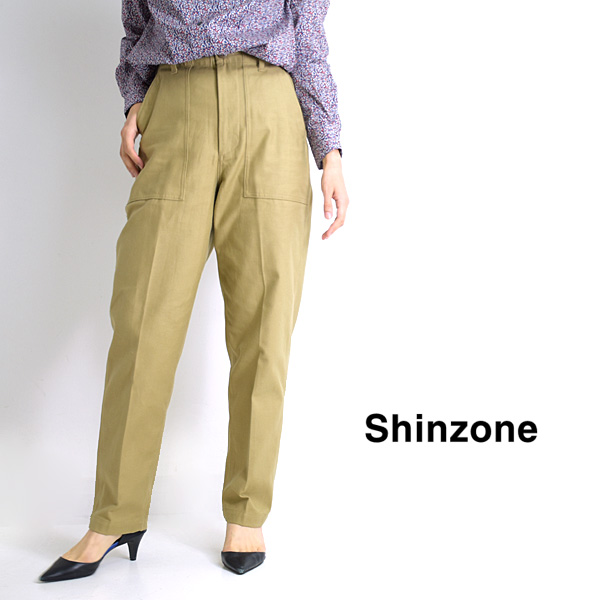 "【21AW】THE SHINZONE シンゾーン ""BAKER PANTS"" ベイカーパンツ 41.ベージュ 15AMSPA18【送料無料】"