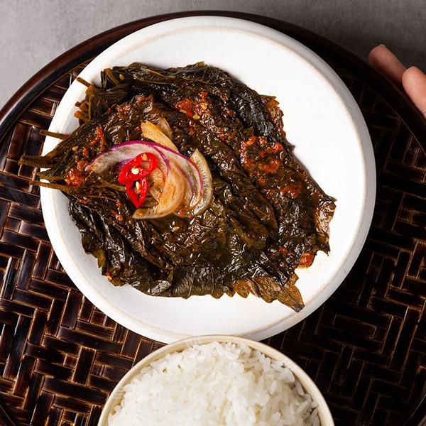 [センピョ]エゴマの葉の醤油漬け(辛口)缶詰
