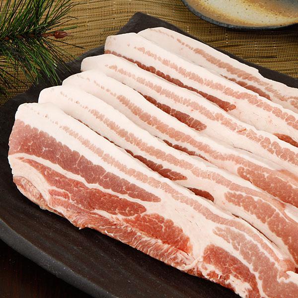 [冷]生豚サムギョプサルスライス/豚バラ肉スライス/約1kg(厚さ1.5cm,カナダ産)