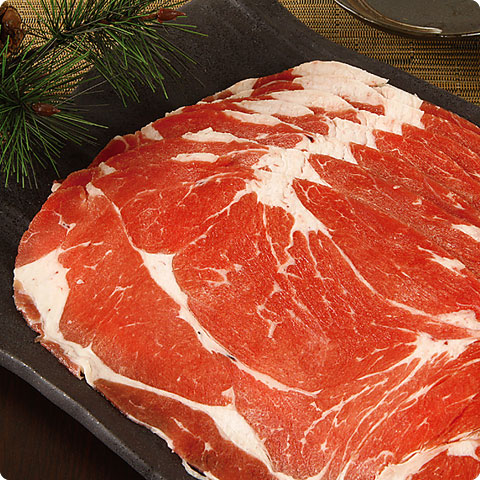 [凍]プルコギ用牛肉スライス(上)(厚さ2mm)約1kg-アメリカ産