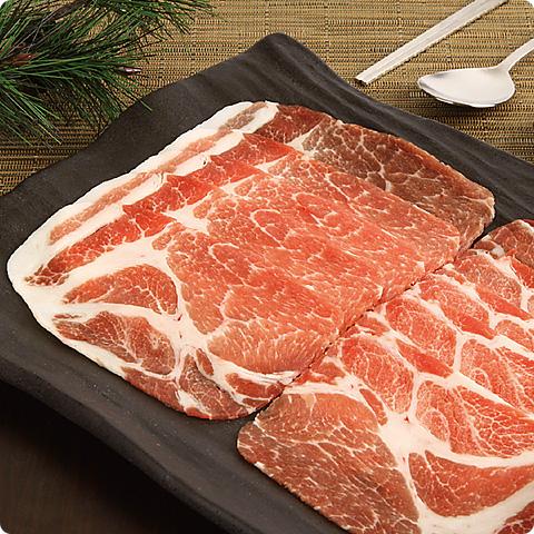 [凍]豚の肩ローススライス約1kg(厚さ5mm)-チリ産