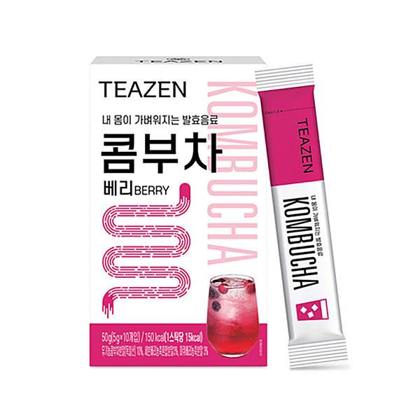 [TEAZEN] ティーゼン コンブチャ KOMBUCHA ベリー味 / 5g×10包 健康茶