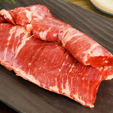 [凍]業務用皮むき牛ハラミブロック-メキシコ産約6.5kg【量り売り】※PAYPAY・銀行振込支払い不可※