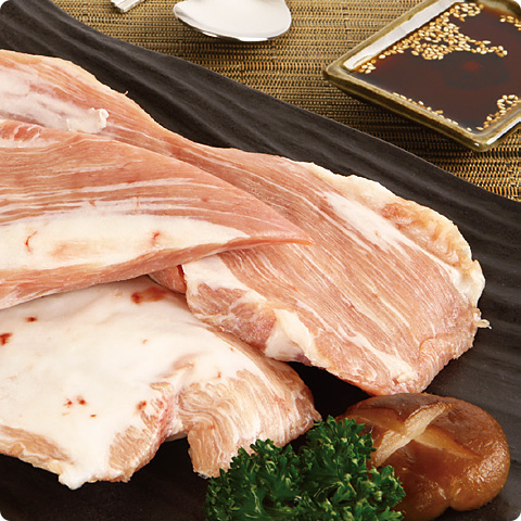 凍]業務用豚トロ(頬肉)ブロック約5kg-チリ産