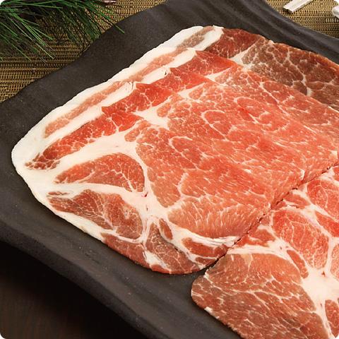[凍]豚の肩ローススライス約1kg(厚さ2mm)-チリ産