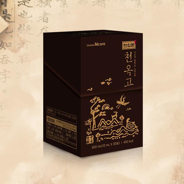 「チョンホ健康食品」泉心本[天玉膏]紅参液スティック10ml×30包