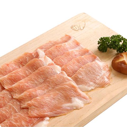 [凍]豚トロ(頬肉)スライス約500g-チリ産