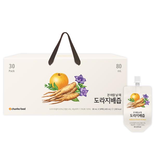 「チョンホ健康食品」キキョウ(桔梗)梨エキス / 80ml×30