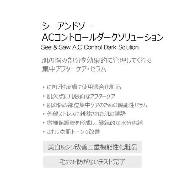 [the SAEM]ザセム シーアンドソー AC コントロール ダーク ソリューション