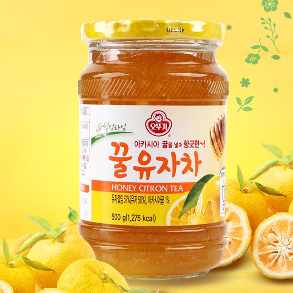[パッケージ変更]オットギ蜂蜜ゆず茶500g
