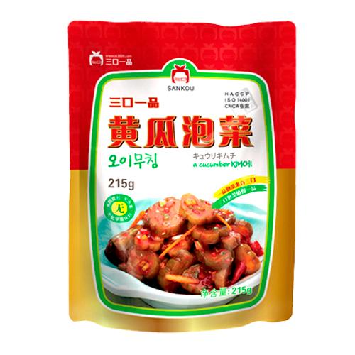 [冷]一品きゅうりの塩漬けキムチ215g-中国産