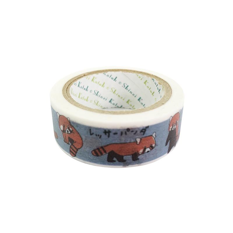 絶滅危惧種マスキングテープ レッサーパンダ