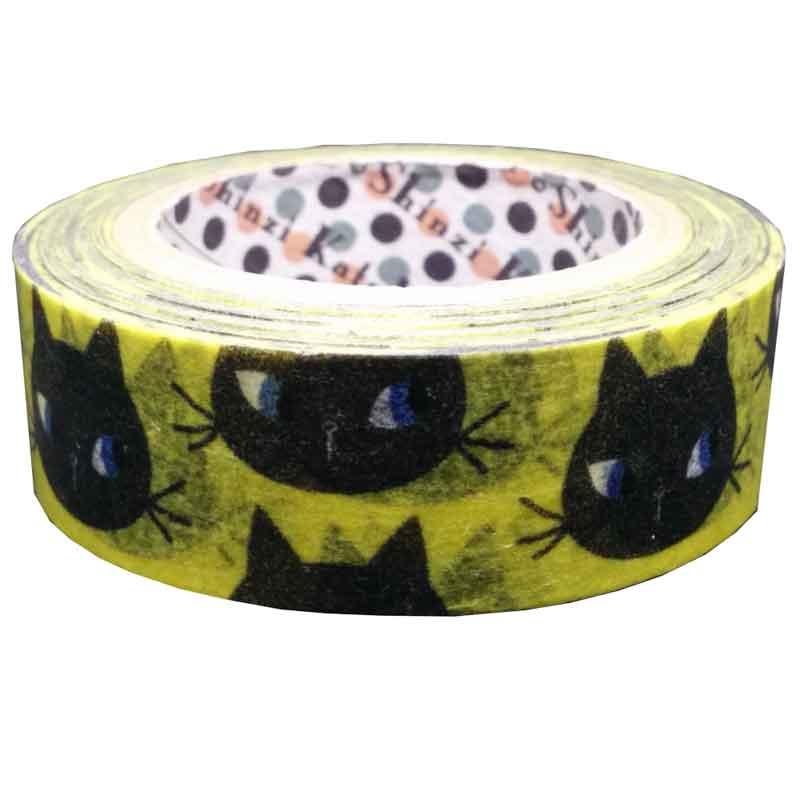 黒猫フェイス マスキングテープ