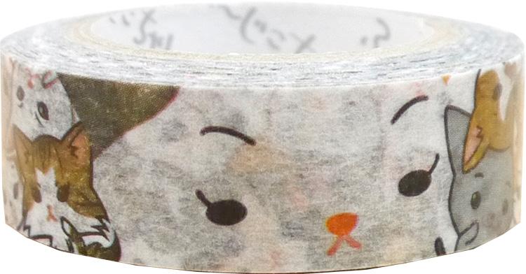 猫ぎゅうぎゅう ふ〜じこちゃんマスキングテープ