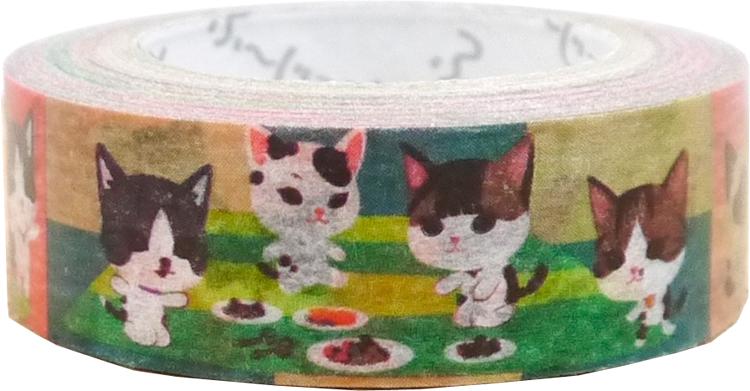 猫遊び ふ〜じこちゃんマスキングテープ