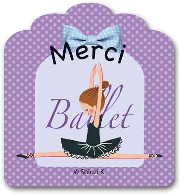 Merci(Ballerina) すたんぷステッカー Mサイズ