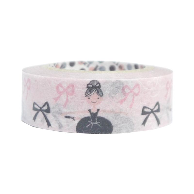 ブラック&ピンク マスキングテープ