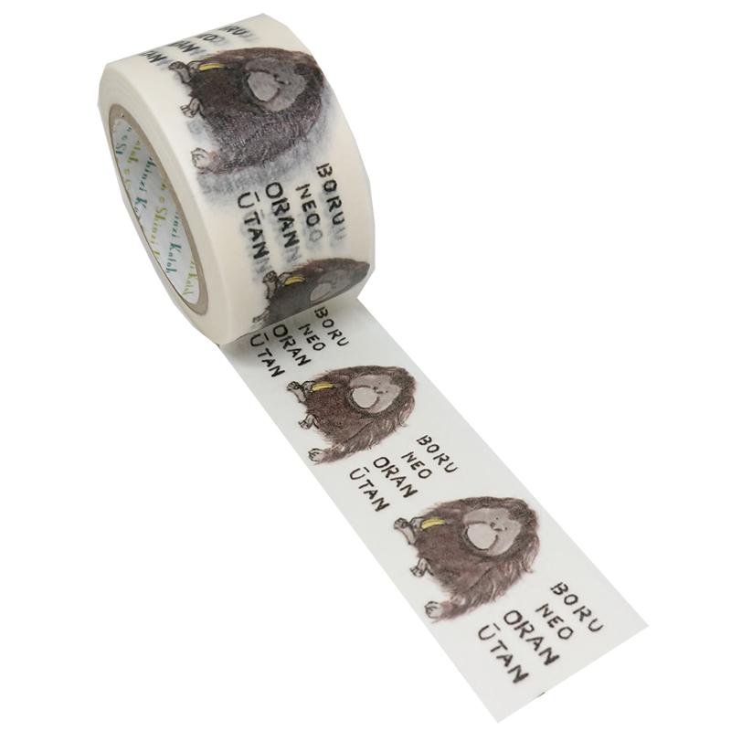 絶滅危惧種マスキングテープ27mm幅 BORUNEOORANUTAN