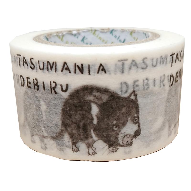 絶滅危惧種マスキングテープ27mm幅 TASUMANIADEBIRU