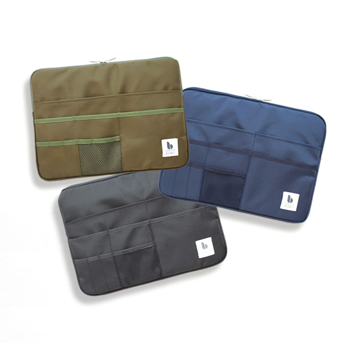 BIMO 【ビモ】<br>Multi Pocket Case<br>Military Collection<br>13インチ
