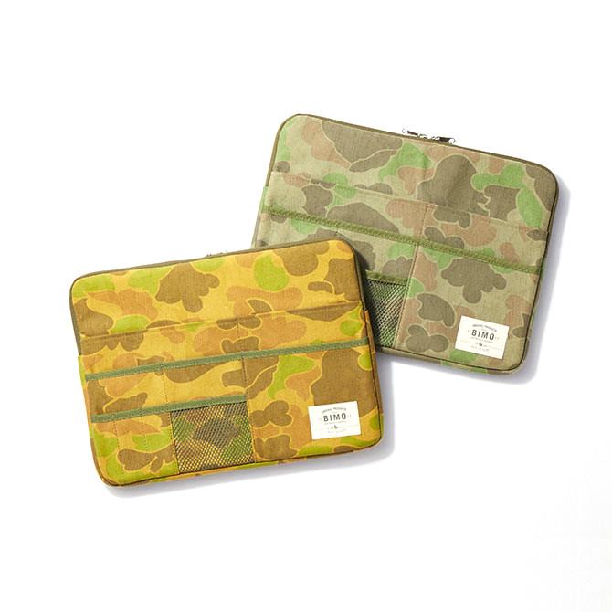 BIMO 【ビモ】 <br>Multi Pocket Case<br>Camo Collection<br>13インチ