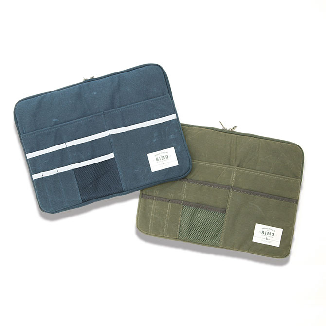 BIMO 【ビモ】<br>Multi Pocket Case<br>Waxed Canvas Collection<br>13インチ