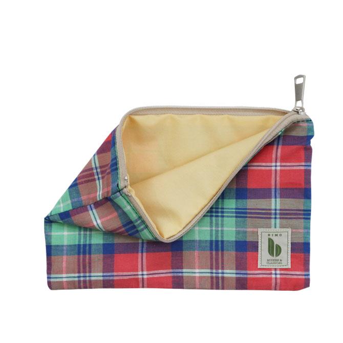 BIMO 【ビモ】<br>Mini pouch<br>Check Collection<br>Mサイズ