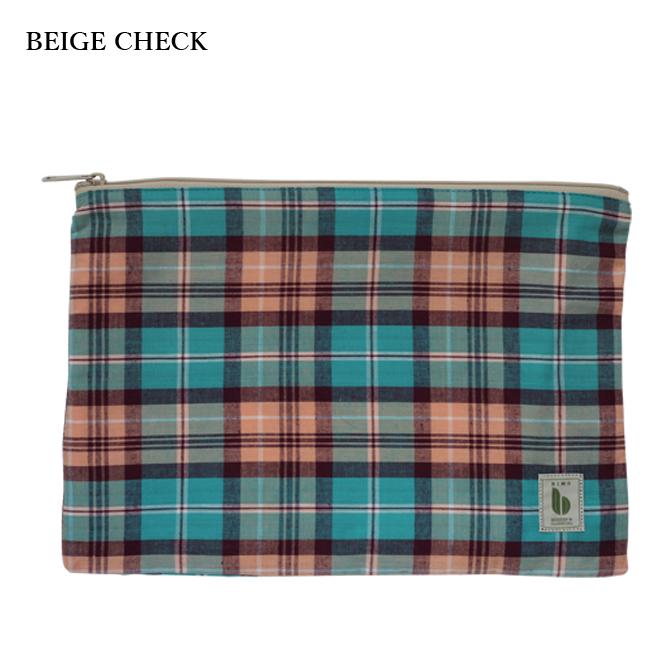 BIMO 【ビモ】<br>Mini pouch<br>Check Collection<br>Sサイズ