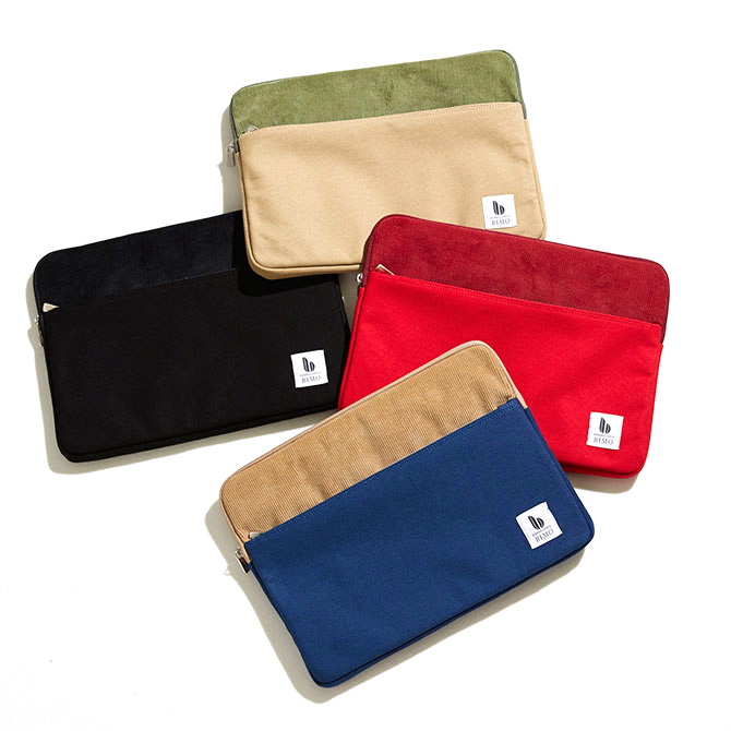 BIMO 【ビモ】<br>Notebook Zip Case<br>Canvas × Corduroy<br>13インチ