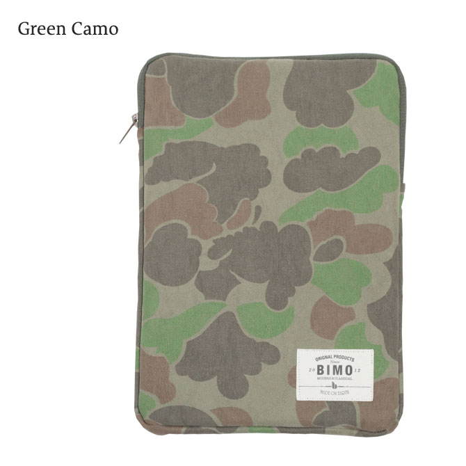 BIMO 【ビモ】<br>Tablet Zip Case<br>Camo Collection<br>10インチ