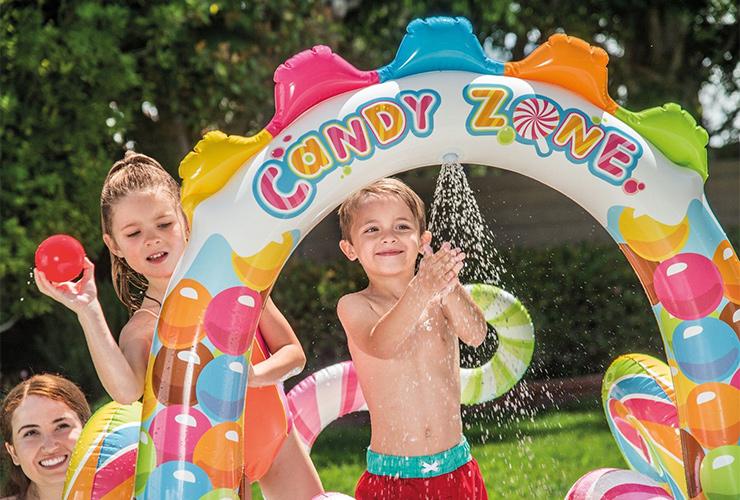 INTEX 家庭用プール U57149 キャンディープレイセンター 子ども用プール ビニールプール 水遊び おもちゃ 庭 【対象年齢3歳~】