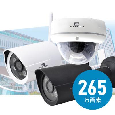 屋外用ネットワークカメラ AP可 265万画素 黒