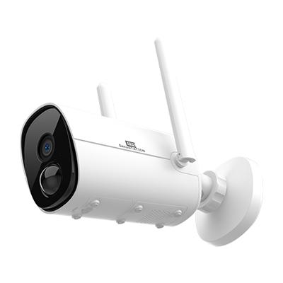 バッテリー内蔵 屋外対応ワイヤレスネットワーク バレットカメラ MK 白