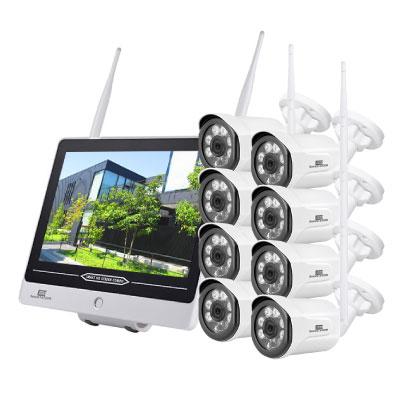 ワイヤレスモニター+カメラ4台セット HDD1TB内蔵 354万画素