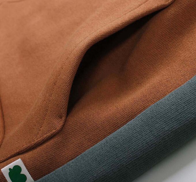 切り替え Sweat フーディー グリーンコットン( Fred's world by Green Cotton )100~140cm オーガニックコットン ※ネコポス対象外
