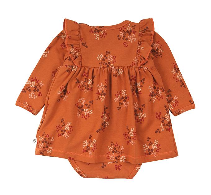 Floral スカート付きロンパース グリーンコットン( Musli by Green Cotton )74~86cm オーガニックコットン
