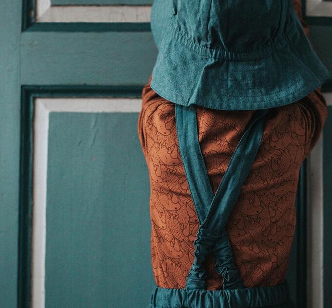 【50%OFF】グリーンコットン( Musli by Green Cotton )オーガニックコットン Rhino 半袖ロンパース