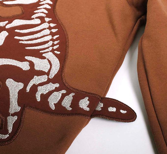 Dino Sweat フーディー グリーンコットン( Fred's world by Green Cotton )100~140cm オーガニックコットン ※ネコポス対象外